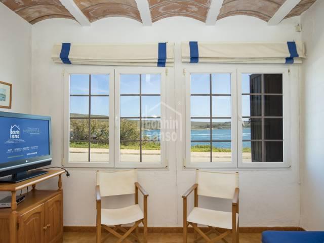 Front line ground floor house, Fornells, Menorca