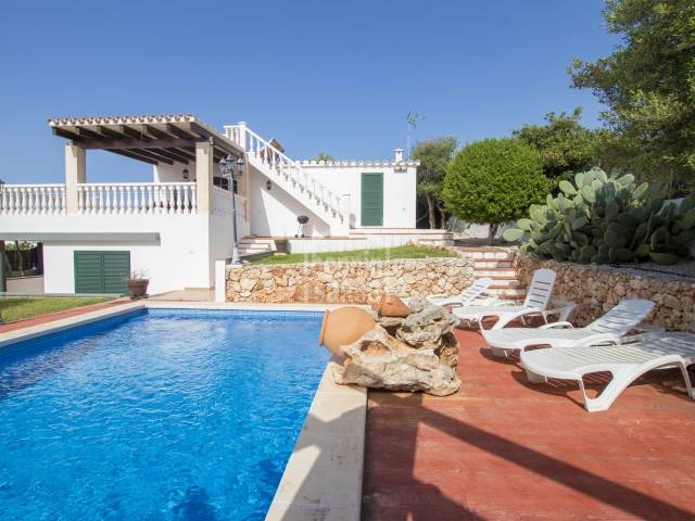 Villa with sea views in Cap den Font, Menorca