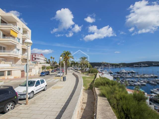 Amazing views of  the Harbour from this Apartment in Mahon, Menorca.