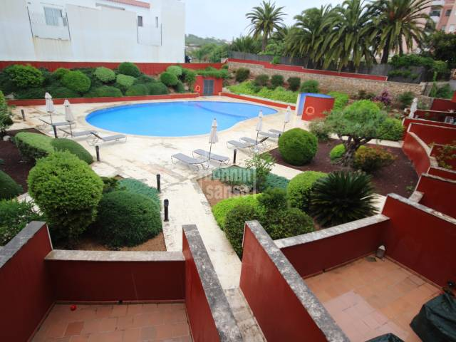 Attractive apartment with communal pool in Es Castell, Menorca.