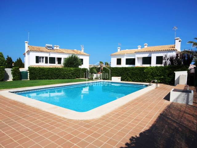 Semi-detached villa with communal pool in Santa Ana, Menorca