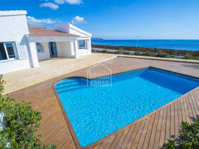 Incredible sea views from this chalet in Salgar, Menorca