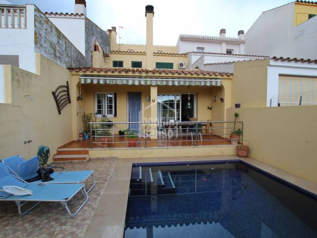 Terraced town house located in quiet street of sant Lluis, Menorca