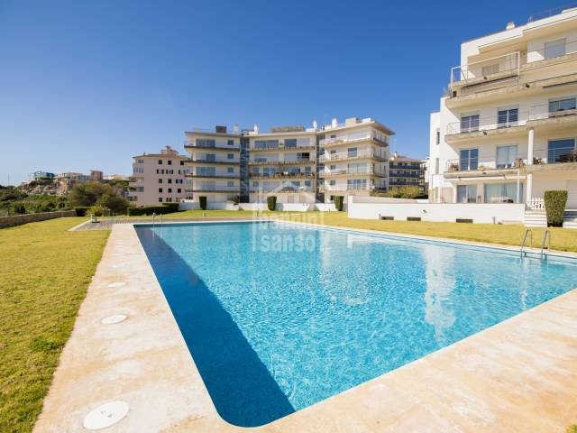 Stunning sea views from this imposing property in a residential complex in Mahón, Menorca.