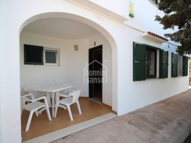 Lovely ground floor apartment with communal pool, Cala Blanca, Ciutadella, Menorca