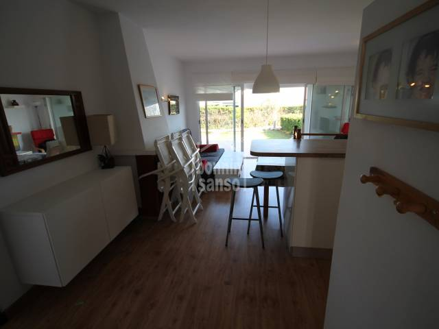 Pretty ground floor apartment in S'Algar, Menorca.