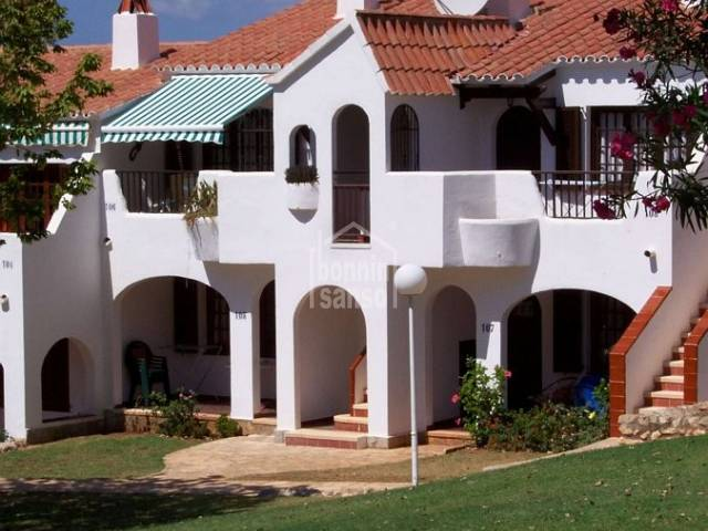 First floor apartment in an attractive complex close to the beach.Menorca