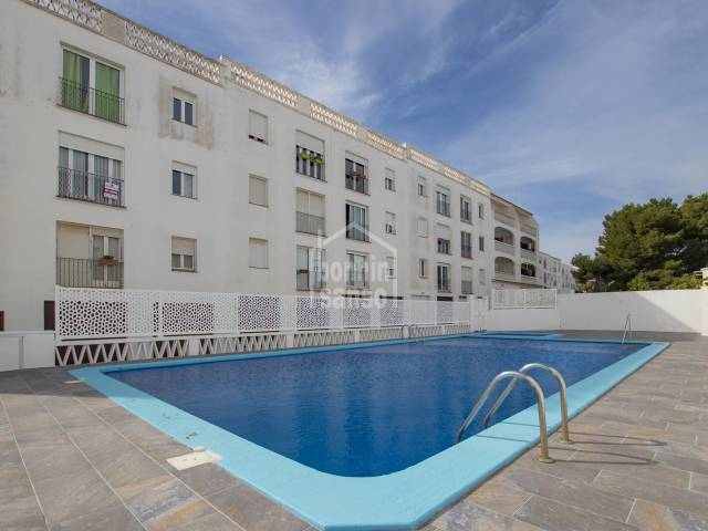 Apartment in Es Castell with communal swimming pool. Menorca