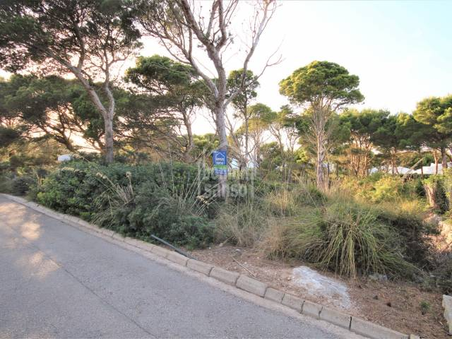 Plot in the wooded area of Cala Morell, Ciutadella, Menorca