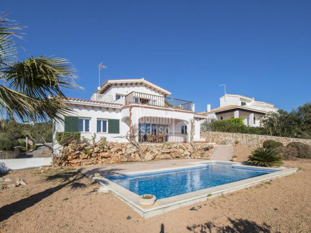 Modern and high quality villa with spectacular views over the south coast of Menorca