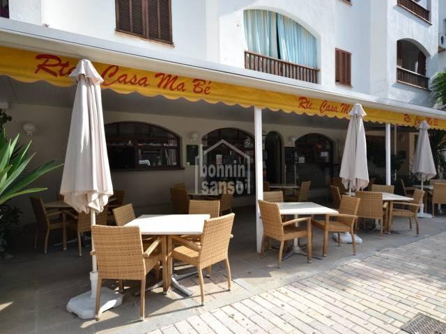Restaurante a pocos metros del paseo peatonal de Cala Millor. Mallorca