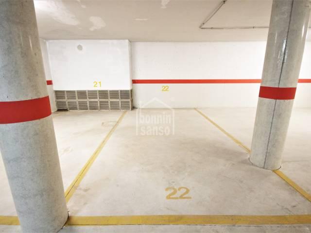 Parking space in a building near the centre of Ciutadella, Menorca