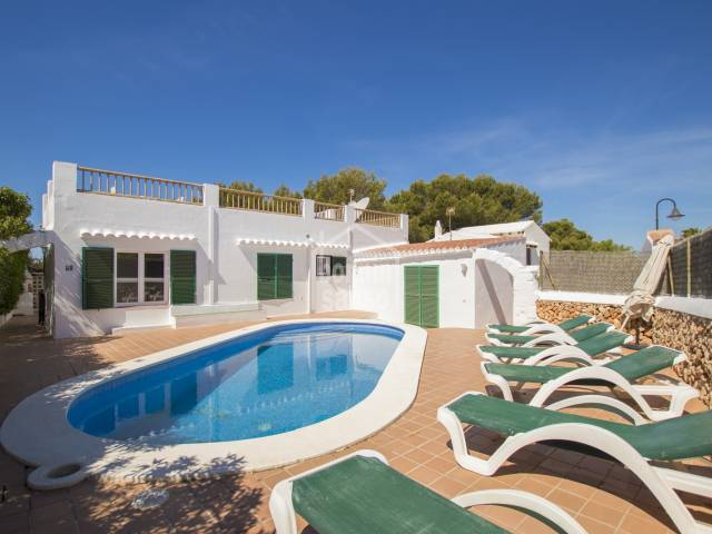 Lovely villa near the fishing village in Binibeca Vell and near the beach on the south coast of Menorca