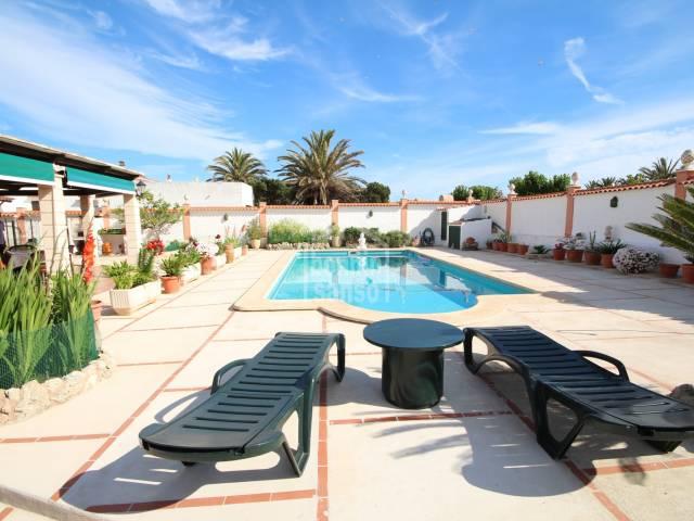 Large villa with private swimming pool in Calan Blanes, Ciutadella, Menorca
