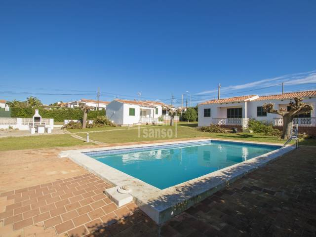 Terraced house in a complex of eight units, Calan Porter, Menorca