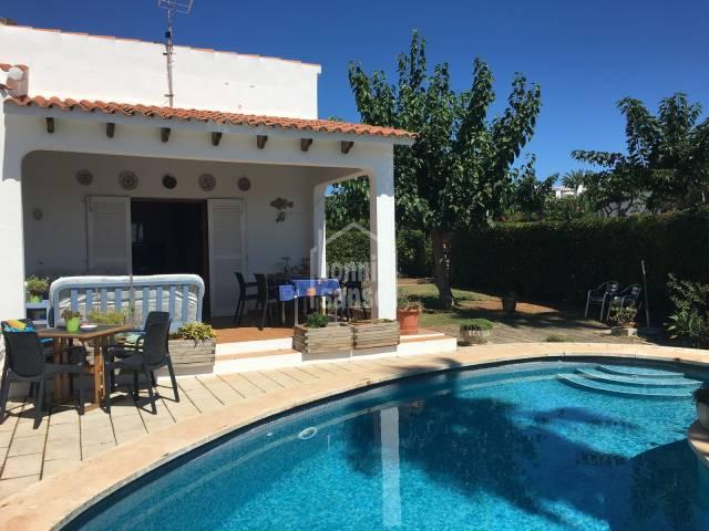 Chalet en la tranquila urbanización de S'Algar, Menorca