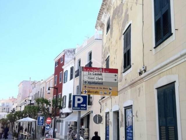 Interesante proyecto para desarrollar en el centro de Mahón, Menorca