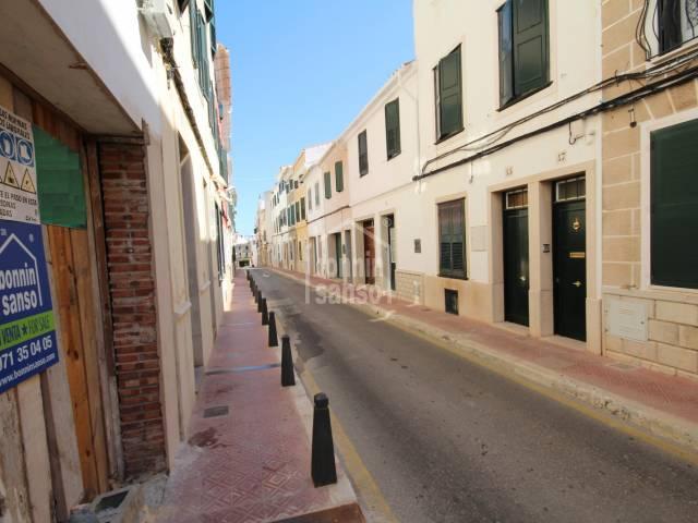 A semi-detached house in need of total refurbishment in Mahon, Menorca.
