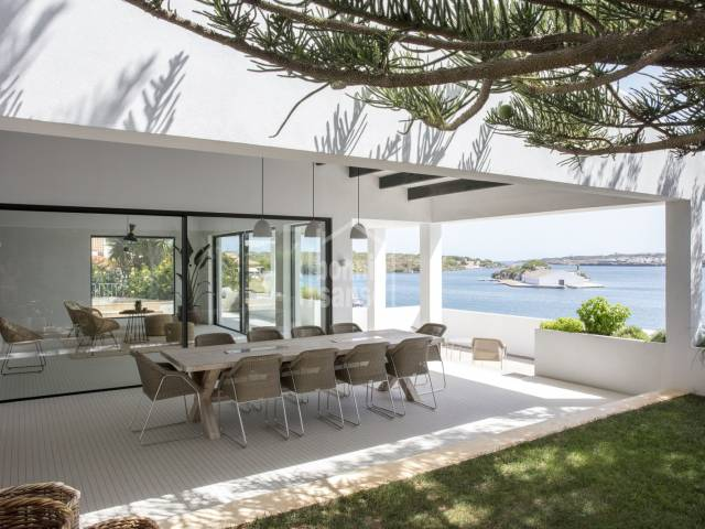 Luxury, front line property in Cala Llonga, Menorca