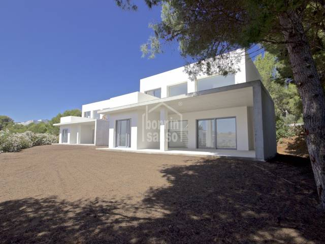 Two storey villa in construction set in an attractive complex of 9 with a large communal garden area, fabulous swimming pool and a parking space, Coves Noves, Menorca