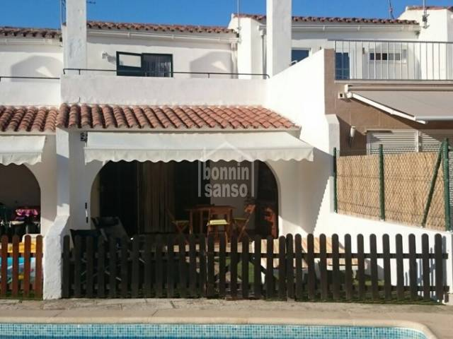 Small two floor attached villa with swimming pool in Calan Blanes, Ciutadella de Menorca