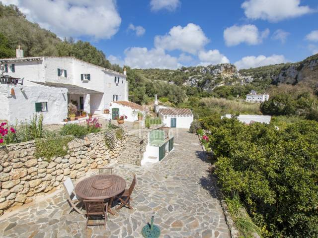 Traditional Menorcan country house surrounded by a multitude of citrus trees, Ferrerias, Menorca