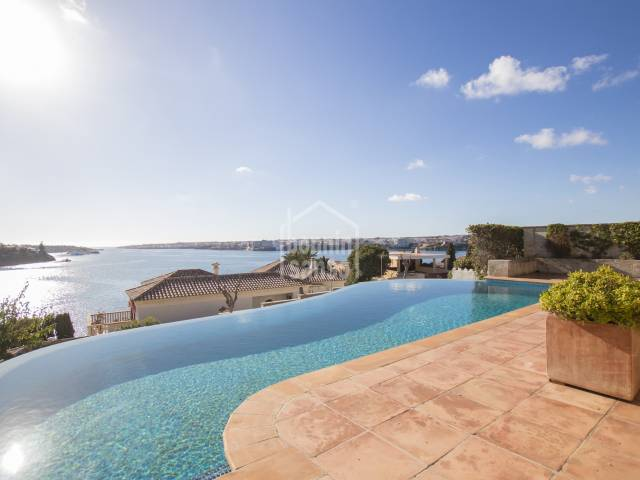 Spectacular sea views over Mahon harbour, Menorca