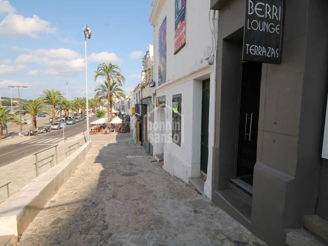 Two bars in Mahon harbour, Menorca