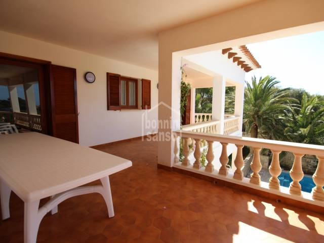 Spacious apartment on the first floor with private garden a few steps from the sea in Calan Brut, Ciutadella, Menorca
