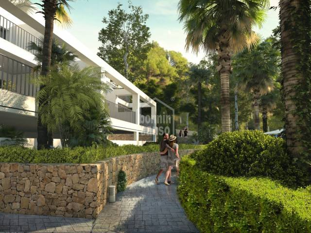 New Build. Ground floor apartment of approx.100m² plus approx. 39m² of terrace in Canyamel, situated a few minutes from the Beach