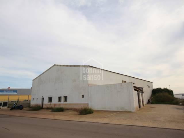 Industrial warehouse on the industrial estate of San Lluis, Menorca.