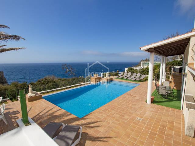Front line villa on the south coast of Menorca  (Canutells)
