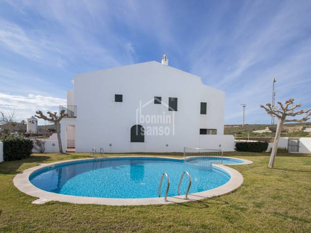 Town house with communal swimming pool, Fornells, Menorca