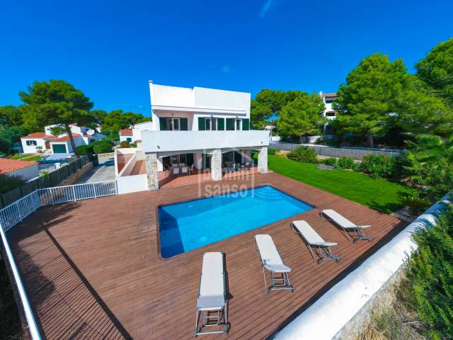 Beautiful villa in the urbanisation of Son Parc, Menorca.
