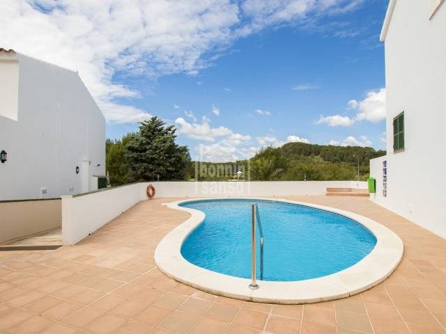 Beautiful house overlooking the golf course in Son Parc, Menorca