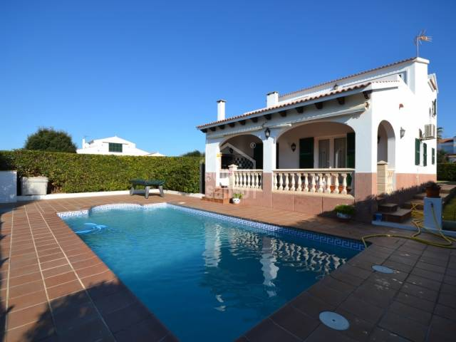 Villa with garden and swimming pool in Cales Piques, Ciutadella, Menorca