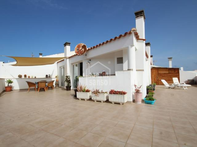Beautiful penthouse flat  with lift access close to the port in Ciutadella, Menorca