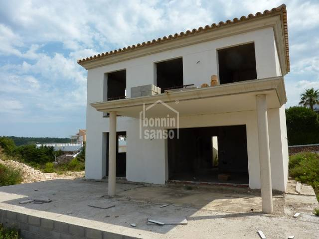 Villa currently under construction with lovely views of Son Bou beach,  Menorca