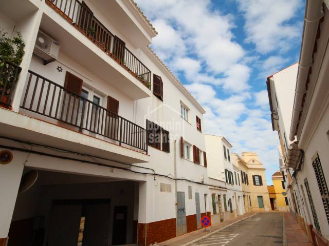 Five parking spaces in the outsides of the center of Mahon, Menorca