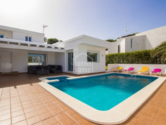 Prime location contemporary Villa  close to the beach and golf. Son Parc Menorca
