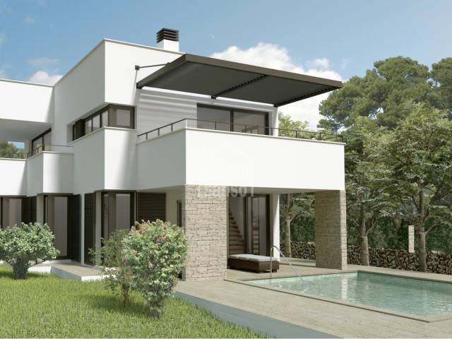 Villa under construction, south facing with distant sea views Son Vitamina. Menorca
