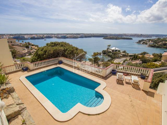 Panoramic views of the Port of Mahon from this Villa.