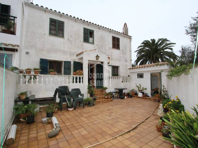 Terrace house located in quiet street in Sant Lluis, Menorca