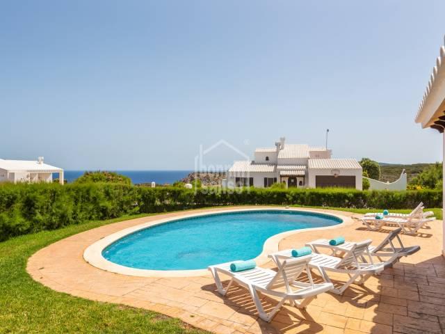 Magnífico chalet con vista al mar en Cala Morell, Ciutadella, Menorca