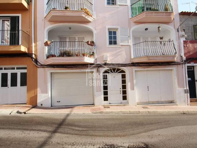 Two garages located in the centre of Es Castell