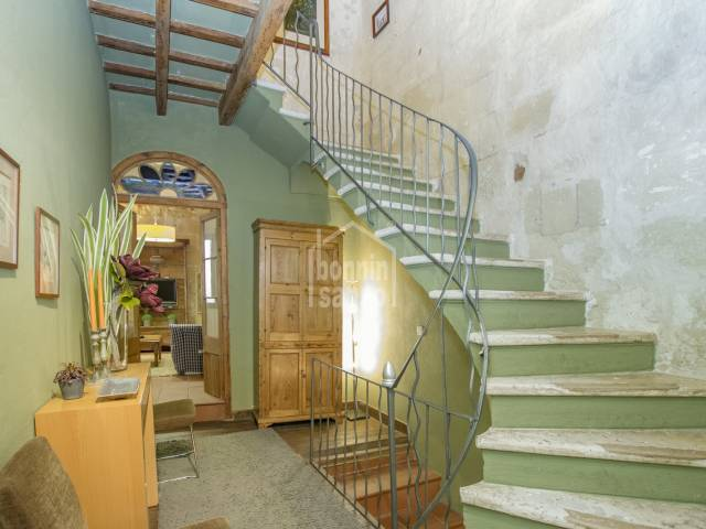 Magnificent detached villa in the city centre, fully renovated, preserving the original interior woodwork, Mahon, Menorca