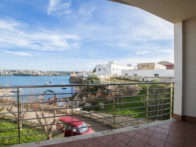 Splendid front line apartment in Cala Corp, Es Castell, Menorca