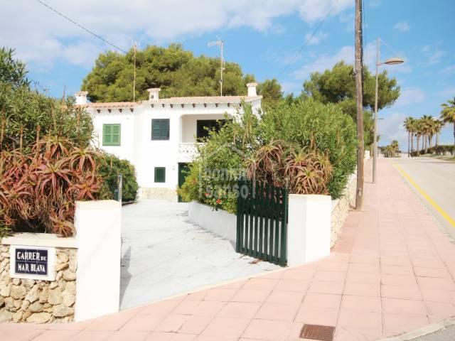Semi detached villa with good sea views in Punta Prima
