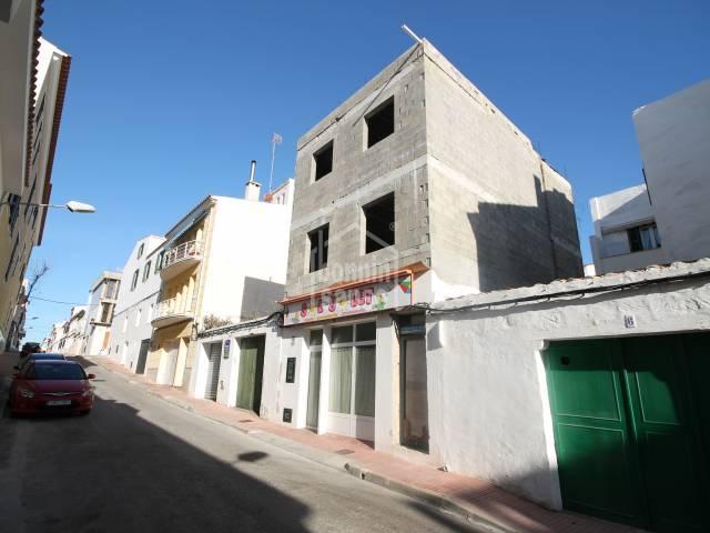 Vivienda en construcción en Es Castell, Menorca