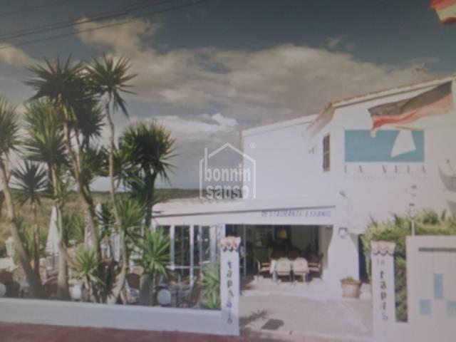 LA VELA Restaurant in Cala en Porter, Menorca.